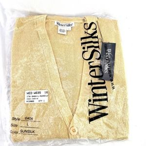 WinterSilks SunSilk Style 6404 100% Silk Cardigan Vest